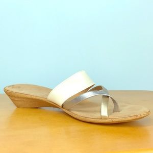 78b3a246296 Italian Shoemakers Shoes - Italian Shoemakers 💘 White and Silver Sandals
